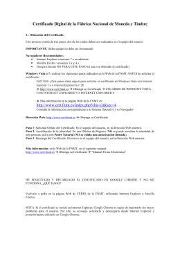 Certificado Digital de la Fábrica Nacional de Moneda y Timbre
