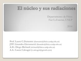 El núcleo y sus radiaciones