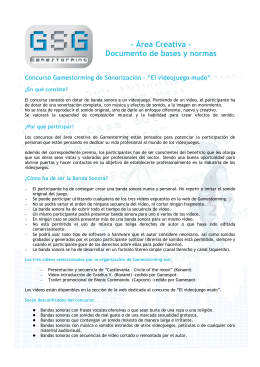 - Área Creativa - Documento de bases y normas