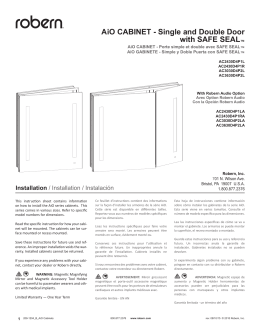 AiO CABINET - Single and Double Door with SAFE SEAL™