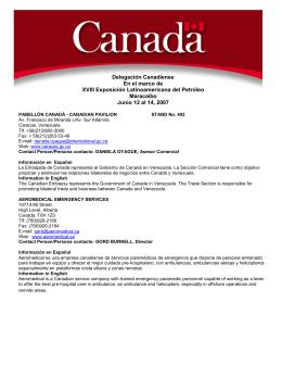 Delegación Canadiense En el marco de XVIII Exposición