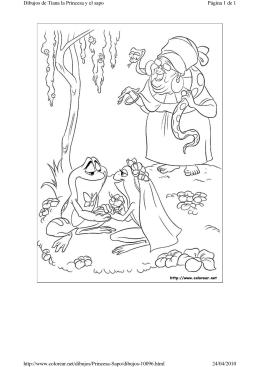 Página 1 de 1 Dibujos de Tiana la Princesa y el sapo 24/04/2010