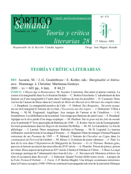 Teoría y crítica literarias 28
