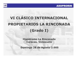 VI Clásico Internacional Propietarios La Rinconada