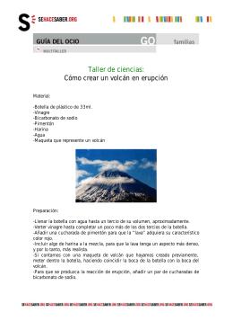 Como crear un volcan en erupcion
