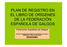 documento oficial - Federación Española de Galgos