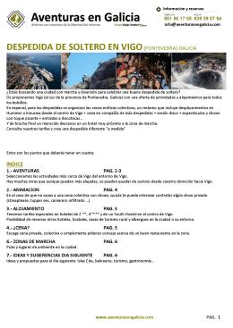 DESPEDIDA DE SOLTERO EN VIGO(PONTEVEDRA) GALICIA