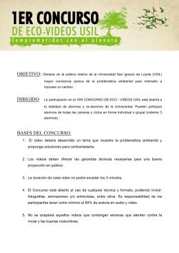 BASES DEL CONCURSO: - Universidad San Ignacio de Loyola
