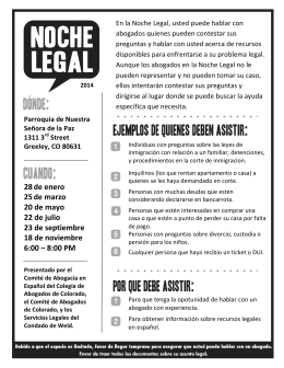Legal Night 2014 Flyer