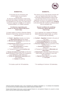 BODAS - Envío Clientes - Sheraton Madrid Mirasierra Hotel & Spa