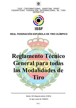 Reglamento Técnico General 2014