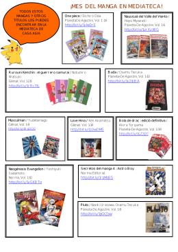 una selección de mangas y animes disponibles