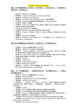 Itinerario - Escolapias Gandia