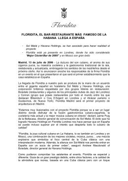 Floridita llega a España