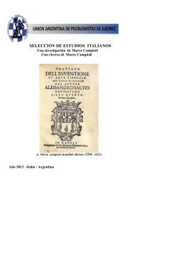 selección de estudios italianos - Unión Argentina de Problemistas