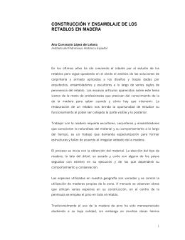 CONSTRUCCIÓN Y ENSAMBLAJE DE LOS RETABLOS EN MADERA