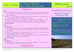 3 días / 2 noches Los Vinos de Bergerac, Cinco colores para