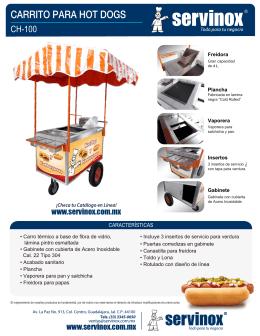 Ficha Tecnica Carrito para Hot Dogs CH-100