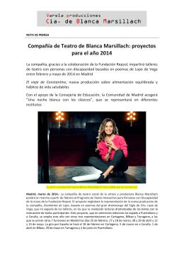 Compañía de Teatro de Blanca Marsillach: proyectos