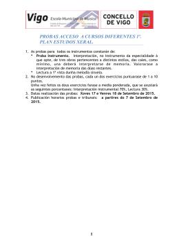 Probas acceso setembro 2015 - Escola Municipal de Música de Vigo