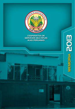 Año 2013 - cooperativa de alas peruanas