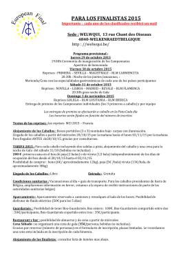 PARA LOS FINALISTAS 2015 - Masters du Cheval Ibérique