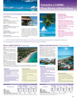 Extensión a CARIBE: Playa Bávaro o Riviera Maya
