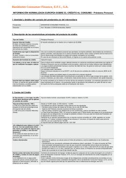 Bankinter Consumer Finance, E.F.C., S.A.