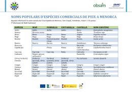 Noms populars de peixos a Menorca