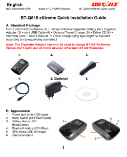 1 BT-Q818 eXtreme Quick Installation Guide English