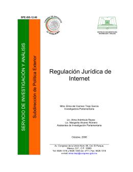 Regulación Jurídica de Internet