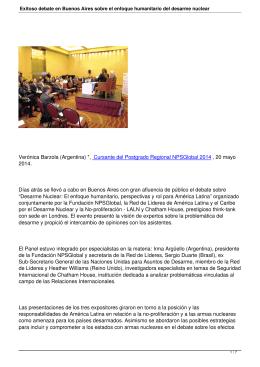 Exitoso debate en Buenos Aires sobre el enfoque