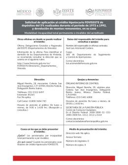 Solicitud de aplicación al crédito hipotecario FOVISSSTE de