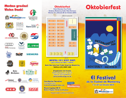 Descargar Folleto del Oktobierfest 2012