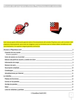 Manual del programa cliente Playchess.com versión 5