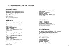 Canciones y Consignas Aborto