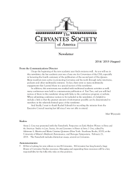 Newsletter - The Cervantes Society of America