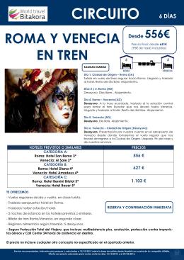 roma y venecia en tren