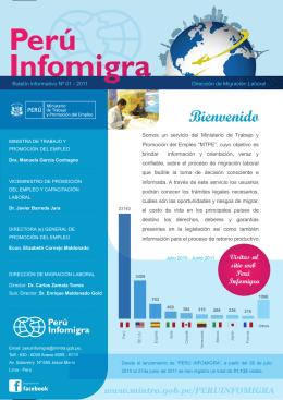 Boletin Peru Infomigra - Ministerio del Trabajo y Promoción del