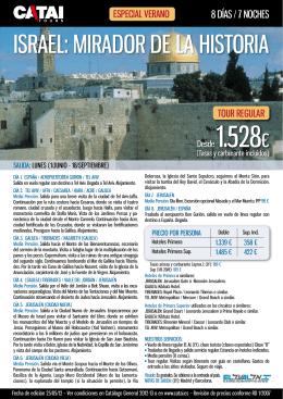 ISRAEL: MIRADOR DE LA HISTORIA
