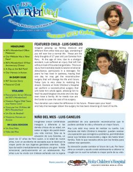 NIñO DEL MES - LUIS CANELOS FEATURED CHILD