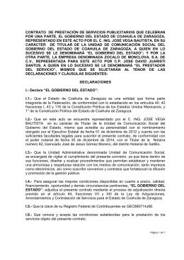 ZOCALO DE MONCLOVA, S.A. DE C.V. _ZOCALO_