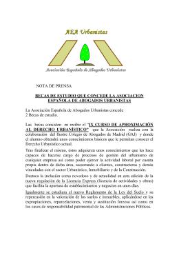 La Asociación Española de Abogados Urbanistas otorga