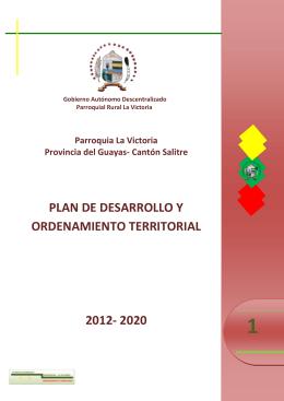 plan de desarrollo y ordenamiento territorial 2012- 2020