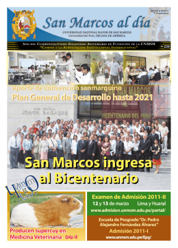 Nº 228 - Universidad Nacional Mayor de San Marcos