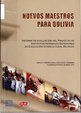 Nuevos maestros para Bolivia