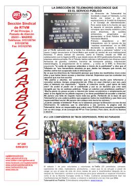La Parabólica nº248 - salvemostelemadrid.es