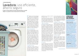 Lavadora: uso eficiente, ahorro seguro