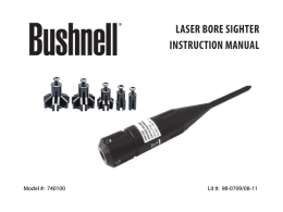 LASER BoRE SightER iNStRUCtioN MANUAL