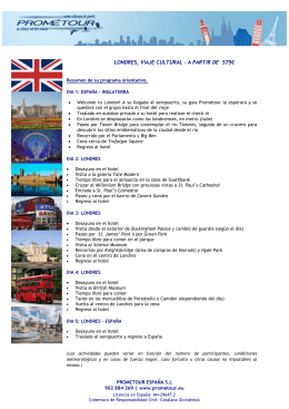 LONDRES, VIAJE CULTURAL – A PARTIR DE 575